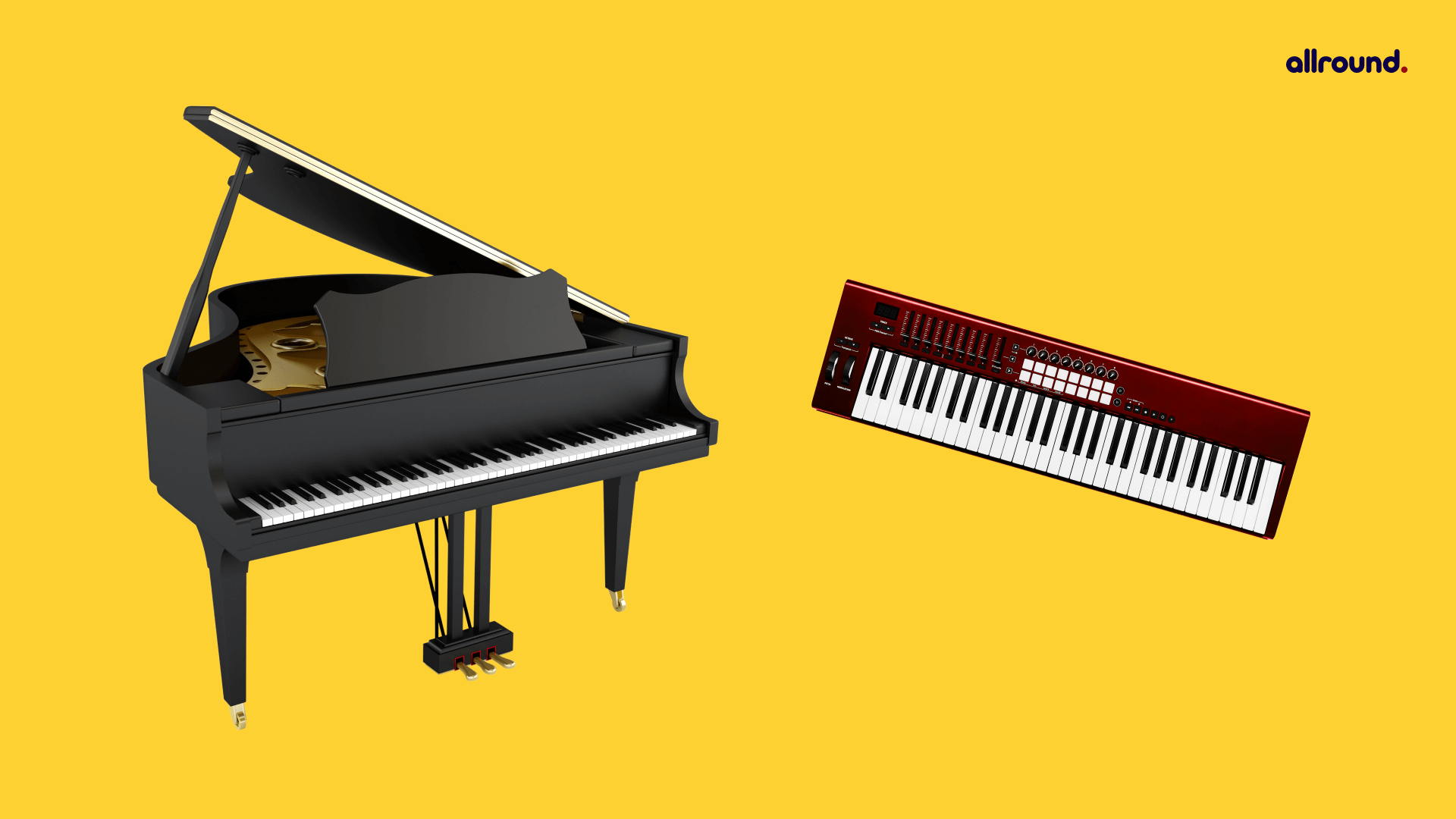 Difference between piano vs keyboard