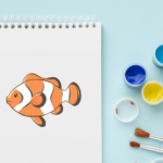 how to draw a clown fish