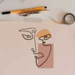 how to draw an abstract face