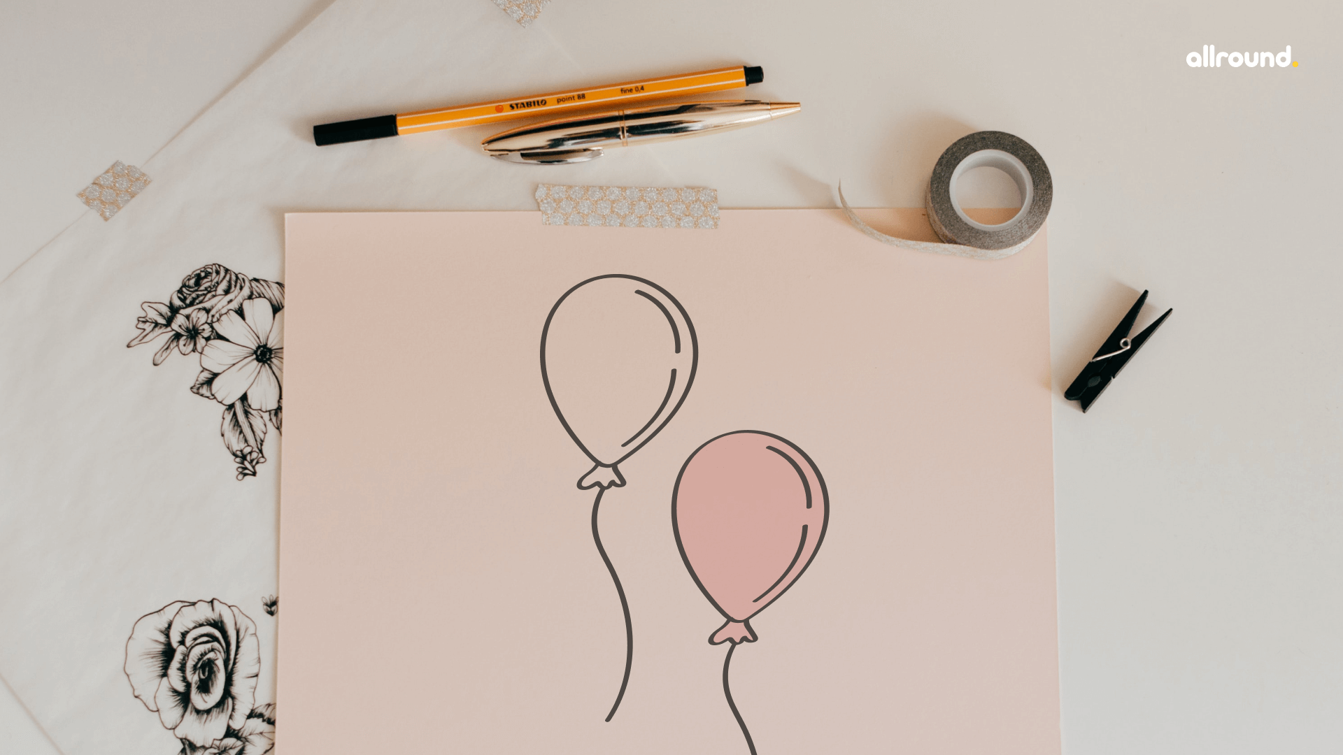 how to draw balloon