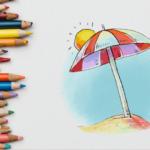 how to draw beach