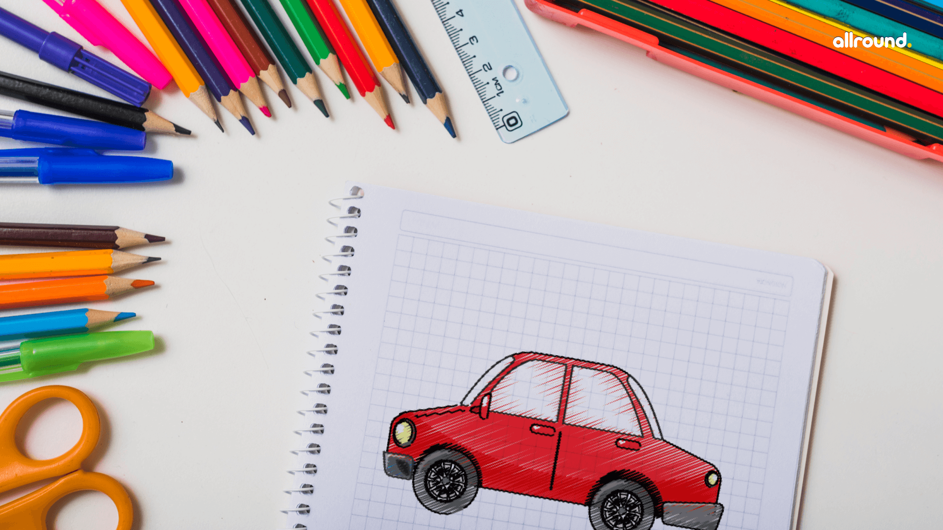 how to draw car